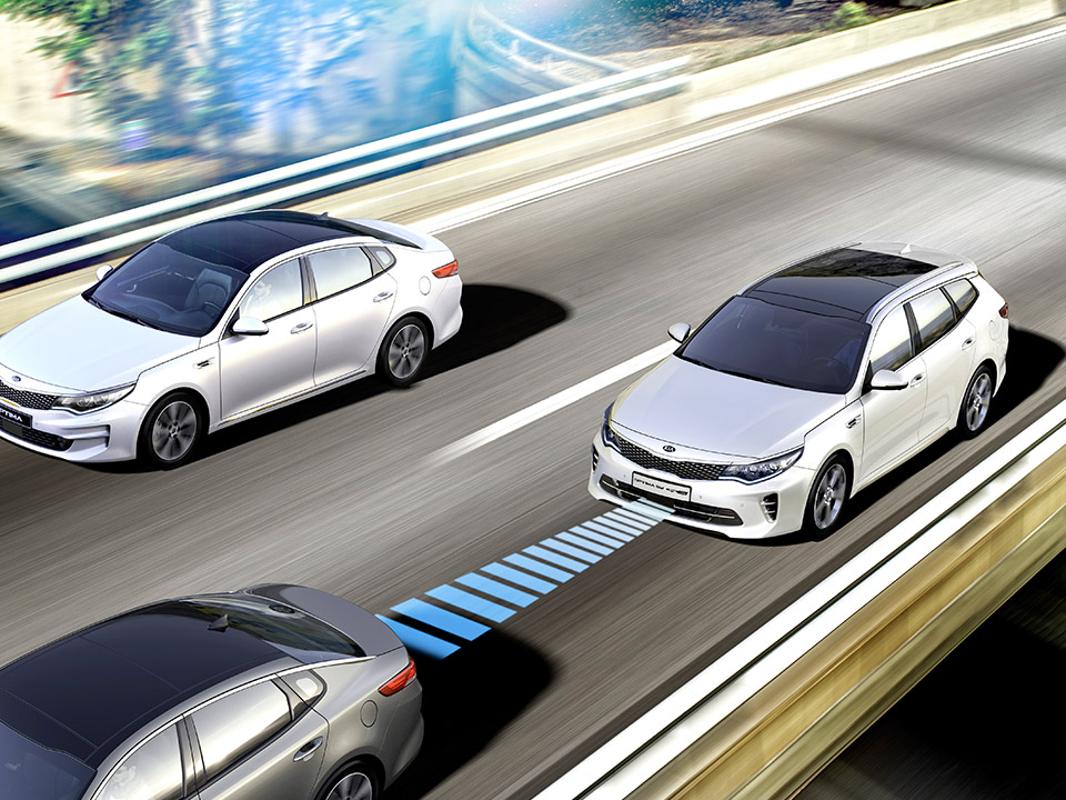 Kia Optima Sportswagon Plug-in Hybrid advanced smart cruise control