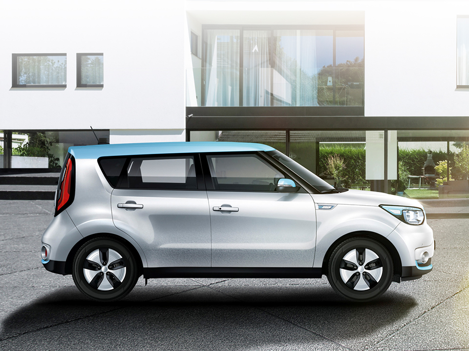 Kia Soul EV style electric vehicle