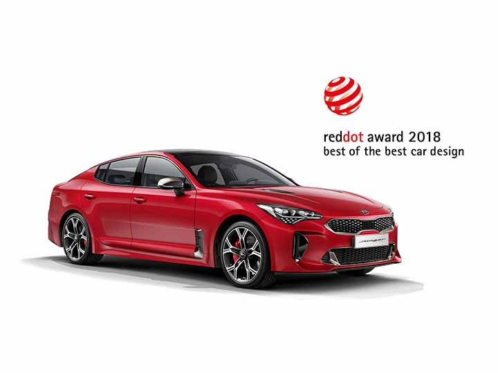 Bil Kia Stinger Red dot award