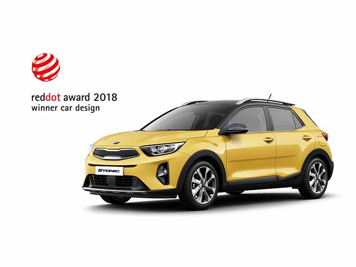 Bil Kia Stonic Crossover red dot award